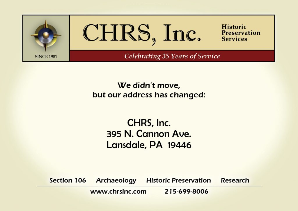 CHRS address change
